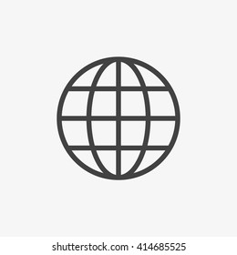 Globe Icon in trendy flat style isolated on grey background. World globe symbol for your web site design, logo, app, UI. Vector illustration, EPS10.