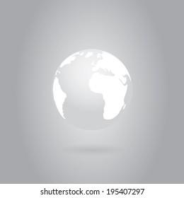 Globe icon . Vector background eps10
