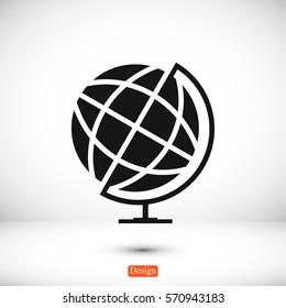 globe icon, vector best flat icon, EPS