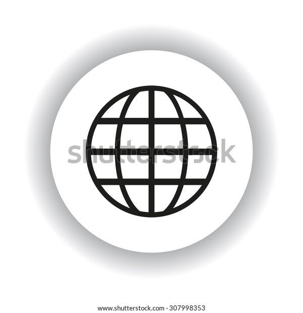 Globe. icon. vector design