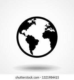 globe icon vector. globe vector graphic illustration