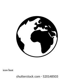 globe icon, vector illustration, vector best flat icon, EPS