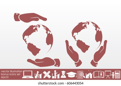Globe icon vector illustration eps10.