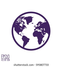 World map globe planet earth world stock vector 497076439 shutterstock globe icon vector illustration flat style for graphic and web design modern simple vector gumiabroncs Images