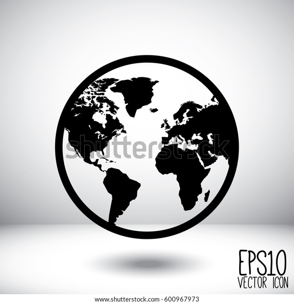 Globe Icon vector illustration. Flat style for graphic and web design, Modern simple vector sign. Internet concept. Trendy symbol for website design web button, mobile app.