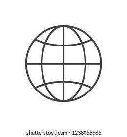 Globe icon vector. Planet symbol for web, app design