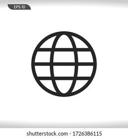 Globe Icon vector . World sign