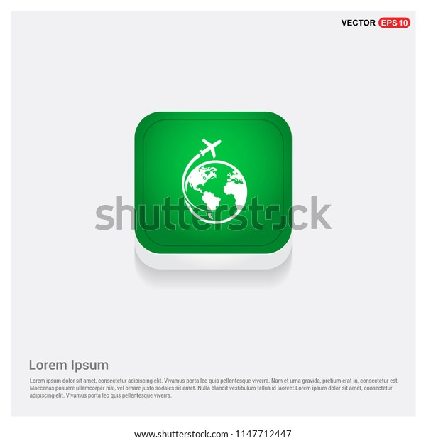 globe iconGreen Web Button - Free vector icon