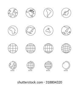 Globe-Icons-Set