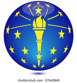 Globe Indiana State Flag