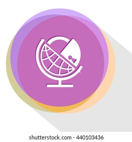 globe and lock. Internet template. Vector icon.