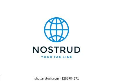 Globe logo design concept. Universal globe design.