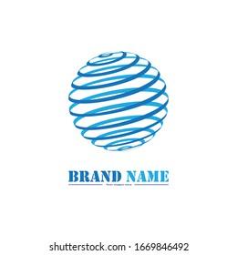 Globe Logo Design Vector Isolated On White Background