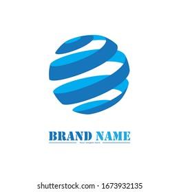 Globe Logo Icon Abstract Design Symbol