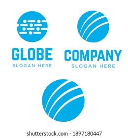 Globe logo. Minimal earth vector logo. Globe Logo innovation