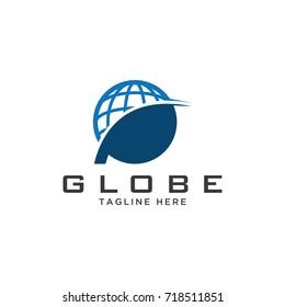 globe logo stylized creative design template