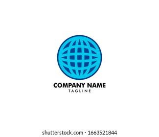 Globe logo template vector icon illustration design