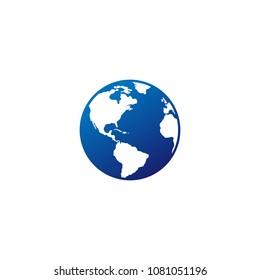 globe logo vector icon download editable