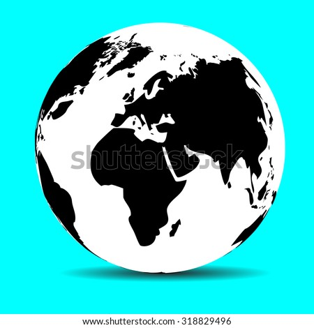 Globe Map Earth Continent Ocean Planet Stock Vector (Royalty Free ...