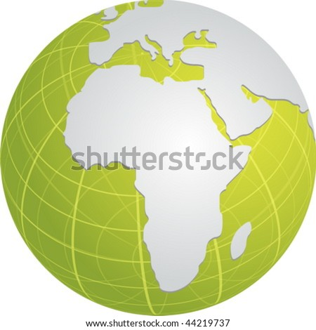 globe map illustration africa middle east stock vector royalty free