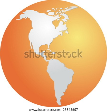 globe map illustration americas continents stock vector royalty