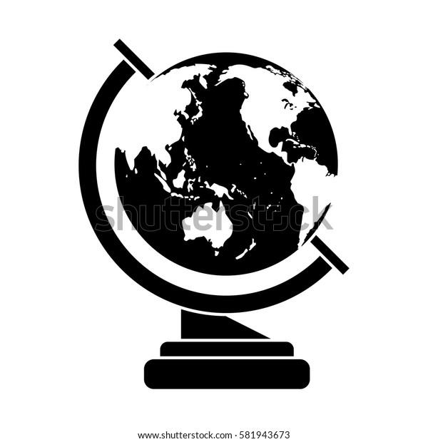 globe map school design pictogram
