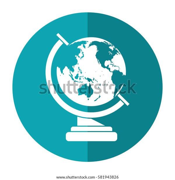 globe map school design shadow