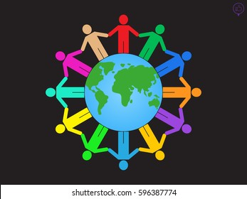 globe, people, icon vector illustration eps10