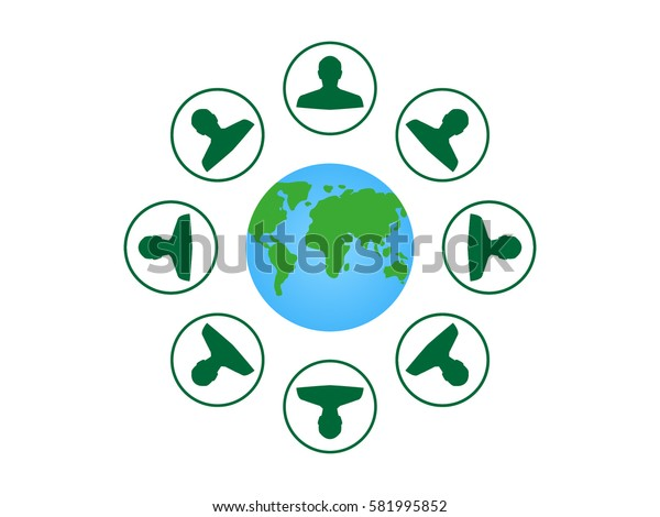 globe, people, icon vector illustration eps10