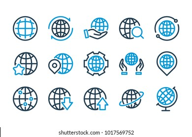 Global politics stock vectors images vector art shutterstock globe related line icons vector icon set freerunsca Image collections