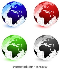 Globe Set Original Vector Illustration