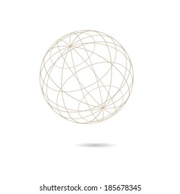 Globe shaped vector diagram