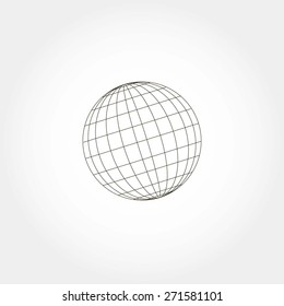 globe sphere, vector illustration