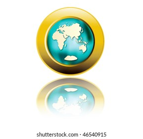 Globe symbol.Vector Illustration