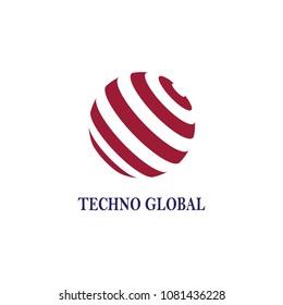 Globe technology logo abstract