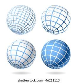 Globe. Vector design elements.