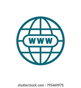 globe vector icon, world symbol, globe icon in trendy flat style