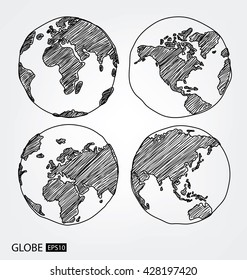 Globe. vector Illustration.