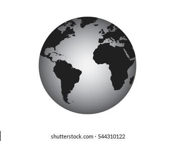 Globe vector illustration on white background