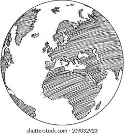 Globe Vector line Illustrator, EPS 10.