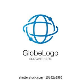 globe vector logo design template