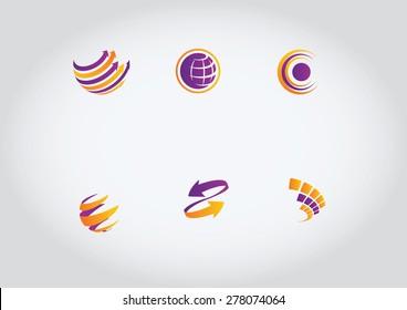 Globe vector logos