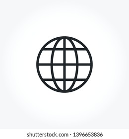 Globe vector out line icon