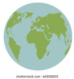 globe world earth map global continent