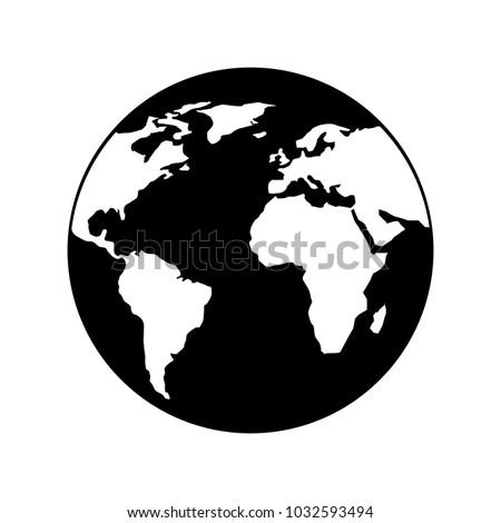 globe world earth planet map icon stock vector royalty free