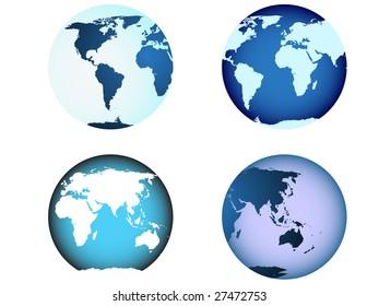 globe world map illustrated