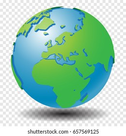 World globe icon africa europe earth vectores en stock 580099456 globe with world map show middle east and europe region with smooth vector shadows on gumiabroncs Images
