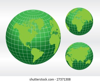 Globe of the World / vector