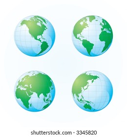 Globe of the World (Vector)