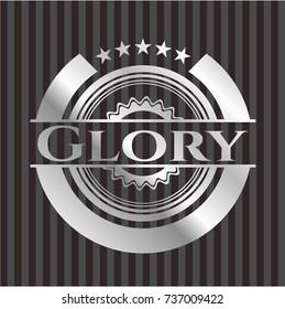 Glory silvery shiny emblem